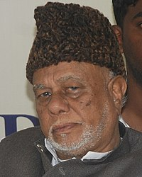 Veteran Leader Ck jaffer Sharief on a Hartal (cropped).JPG