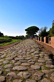 Via Ostiensis street in Rome, Italy