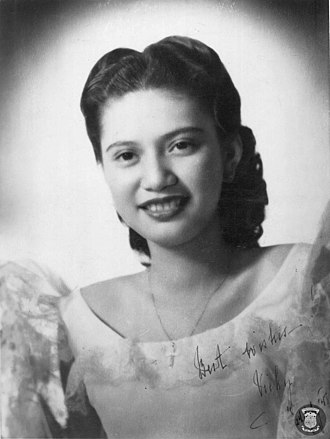 First Lady or First Gentleman of the Philippines - Image: Vicky Quirino (Malacanang photo)