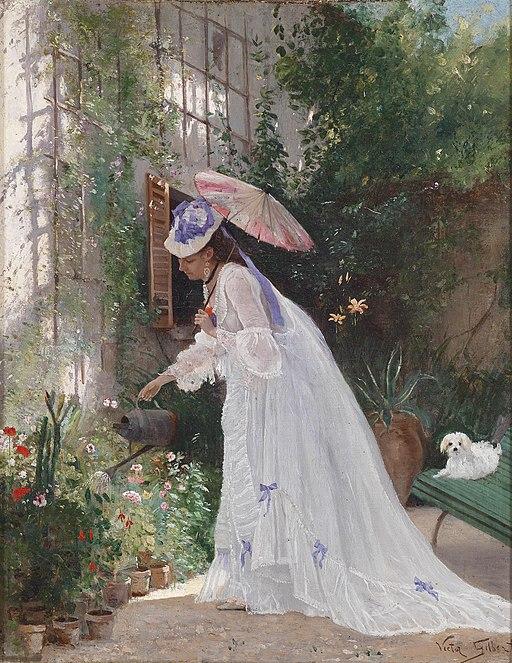 Victor Gabriel Gilbert Liebevolle Blumenpflege
