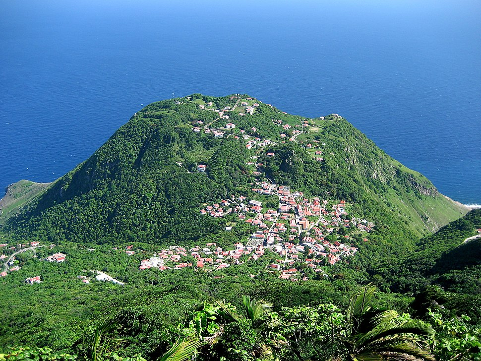 View from Mt Scenery, Saba