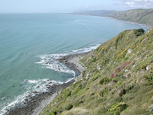 View from Raroa Reserve lookout, Pukerua Bay, ...