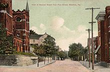 View of Second Street from Pine Street, Steelton, PA.jpg
