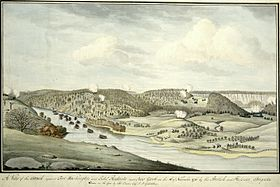 Dessin de la bataille de Fort Washington.