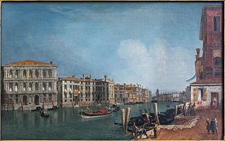 View of the Grand Canal near Cà Pesaro