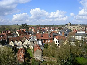 Clare, Suffolk - Image: View over Clare geograph.org.uk 155462