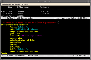 Vile (editor) - Image: Vile in terminal