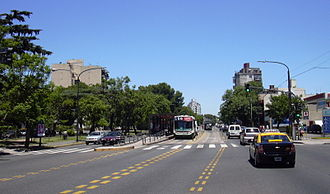 Avenida Juan B. Justo - The avenue at the Villa Luro neighbourhood.