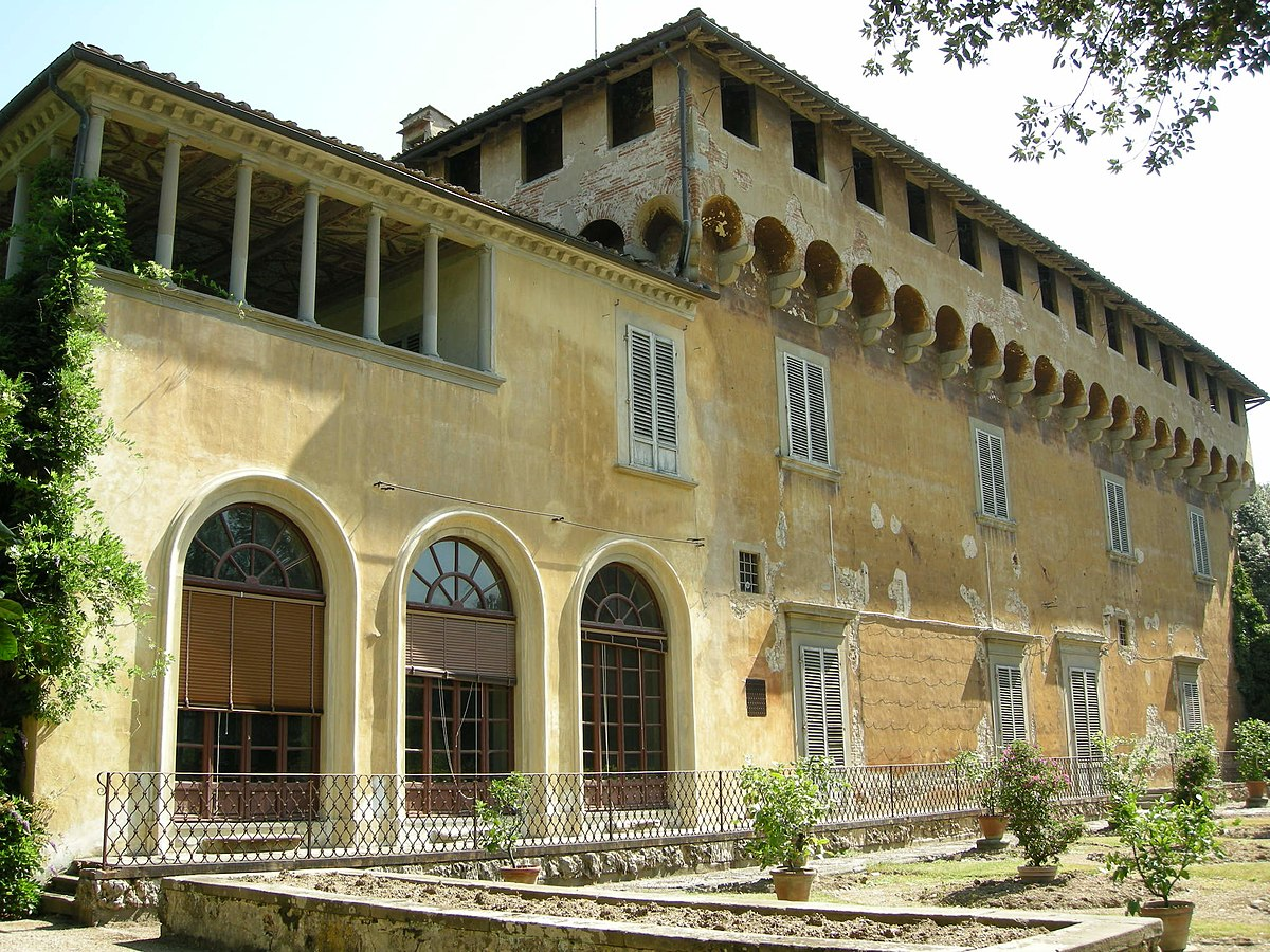 Villa medicea di careggi wikipedia for Interni ville antiche