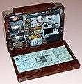 Vintage RCA Portable Radio, Model B-411, AM Band, 4 Vacuum Tubes, Battery Powered, Made In USA, Circa 1950 - 1951 (32753344002).jpg