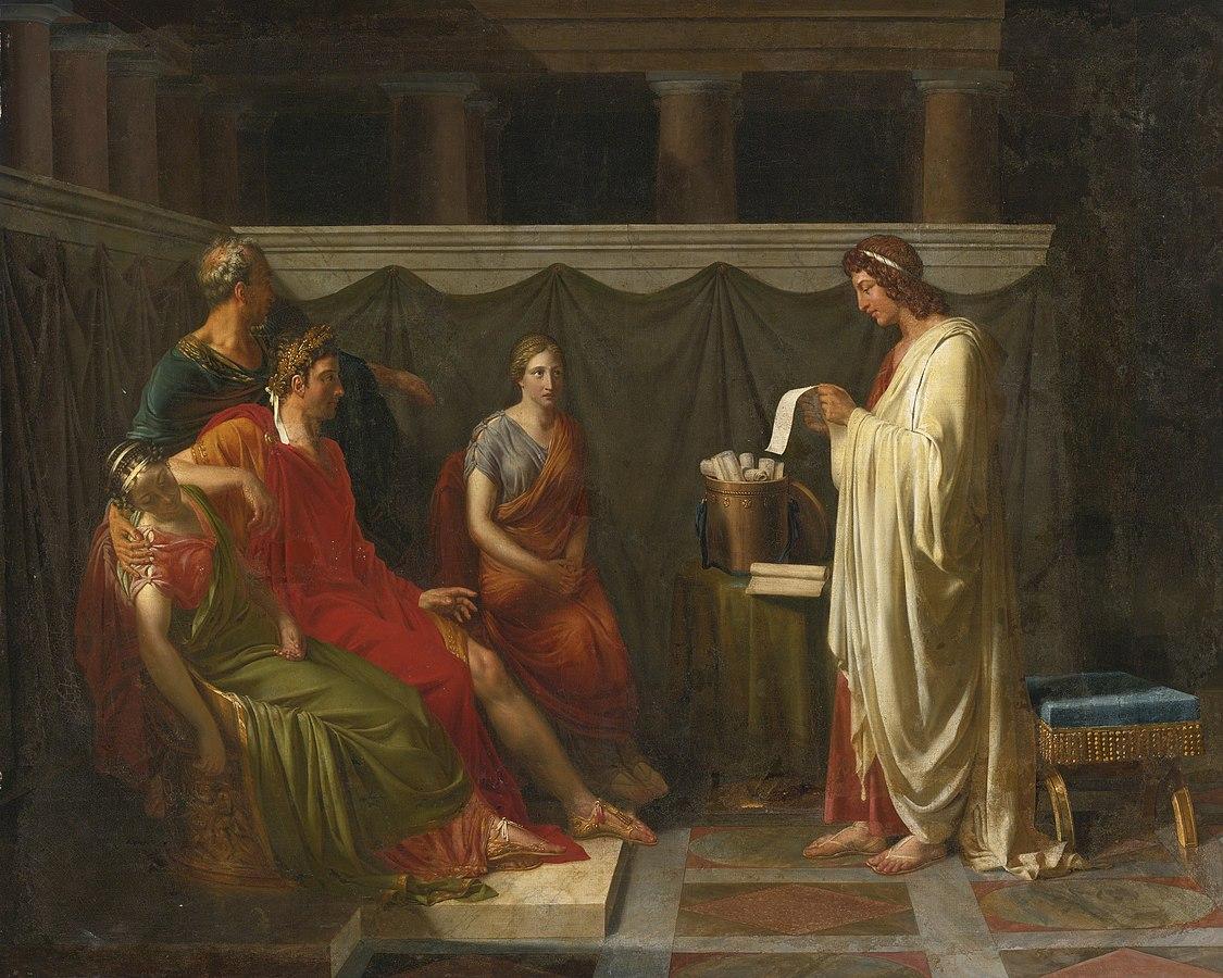 Virgil reading his Aeneid to Augustus