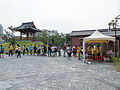 Visitors Buying Tickets Line in Plaza 20140705a.jpg