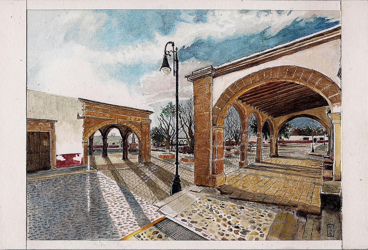 Px Vista De La Plaza De Nopala