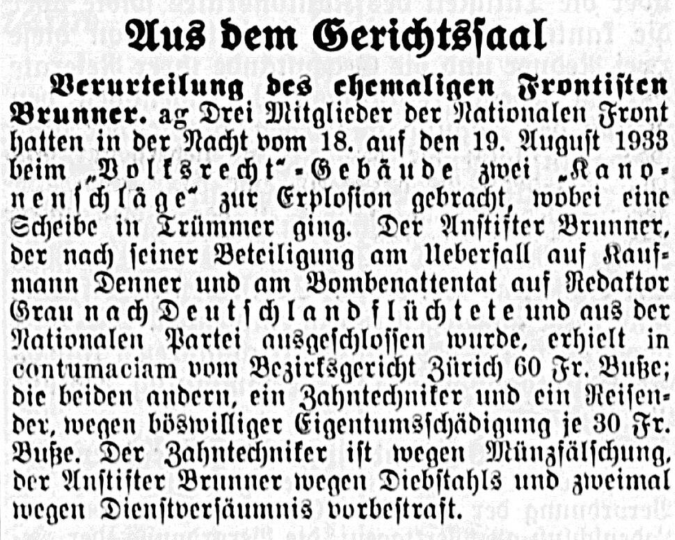 Volksrecht NZZ 17 Juni 1934