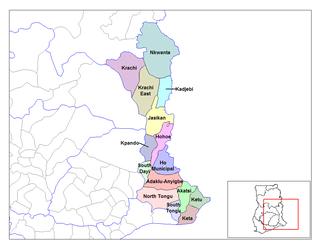 Akatsi District Place in Ordinary, Volta