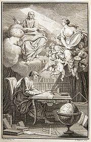 Le siècle de la pensée dans AUX SIECLES DERNIERS 180px-Voltaire_Philosophy_of_Newton_frontispiece