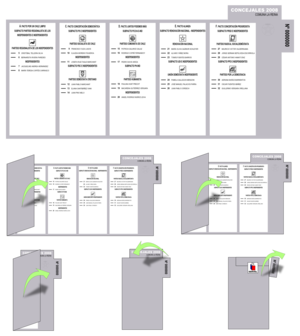 Chilean municipal election, 2008 - A mock councilmen ballot for the La Reina municipality.