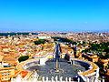 Vue sur Rome depuis le dome de la basilique St Pierre(Vatican).JPG