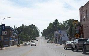 Kewaunee, Wisconsin - East terminus of Highway 29 in downtown Kewaunee