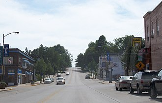 Kewaunee, Wisconsin - East terminus of Highway 29 in downtown Kewaunee