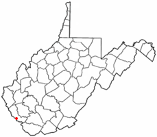 Location of Matewan, West Virginia