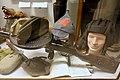 WW2 Soviet Russian Red Army uniform caps (pilotka budenovka tank helmet ) machine gun Lofoten Krigsminnemuseum Norway 2019 0296.jpg