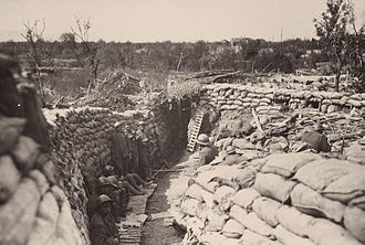 Fifth Battle of the Isonzo - Italian trenches at the beginning of the Fifth Battle of the Isonzo