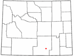 Location of Saratoga, Wyoming