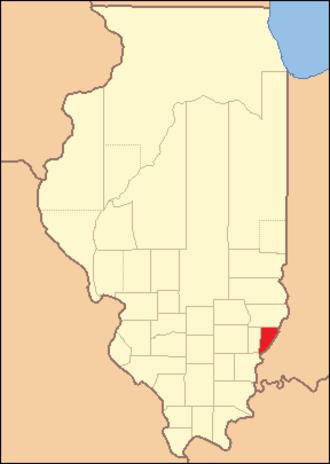 Wabash County, Illinois - Image: Wabash County Illinois 1824