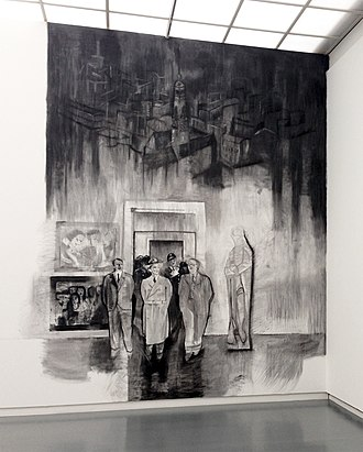 Marc Bauer - Image: Wall drawing, part of the work 'Sphinx, 1931, 1935 46' by Marc Bauer 2014