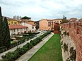 Walls of Pisa, wood tower near of Piazza del Rosso.jpg