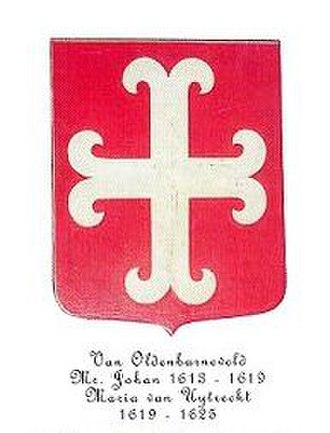 Johan van Oldenbarnevelt - Arms of the Oldenbarneveld family.