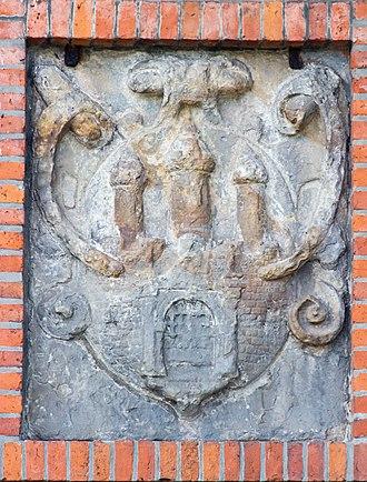 Great Tower Neuwerk - Image: Wappen am Neuwerker Leuchtturm