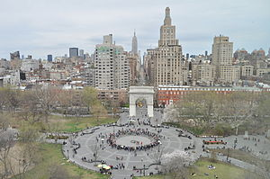 Jane Jacobs - Jacobs fought to prevent Washington Square Park, pictured, from being demolished for a highway
