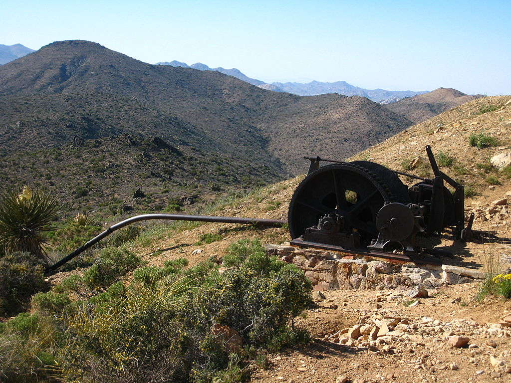 Water pump at Lost Horse Mine from side