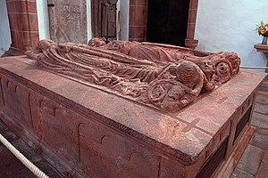 Dedi III, Margrave of Lusatia - Tomb of Dedo, with his wife Matilda next to him, on the left
