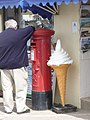 West Bay, postbox No. DT6 35 and large ice cream - geograph.org.uk - 1364952.jpg