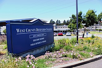 West County Detention Center - Front sign of the West County Detention Center in Richmond, California