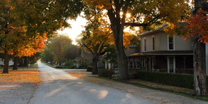 Middle America (United States) - A quiet street in a small Indiana town