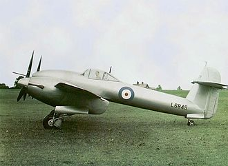 Westland Whirlwind (fighter) - Westland Whirlwind second prototype, L6845, photographed at Martlesham Heath while being tested by the A&AEE, July 1939. Note the overall aluminium paint scheme, with polished spinners.