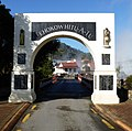 Whakarewarewa - gate, New Zealand.JPG