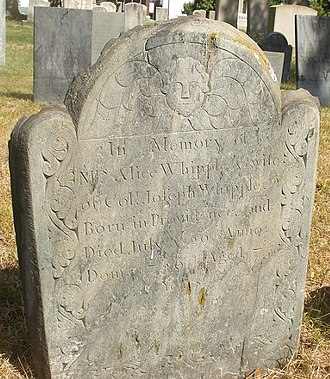 Joseph Whipple - Image: Whipple.Alice.graves tone.No Bur Gnd.Prov