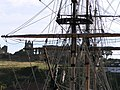Whitby Abbey through the rigging of 'The Grand Turk' - geograph.org.uk - 1417049.jpg
