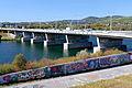 Wien - Nordbrücke, Graffiti.JPG