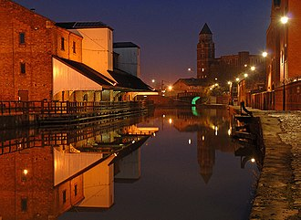Leeds and Liverpool Canal - The Leeds and Liverpool Canal at Wigan Pier