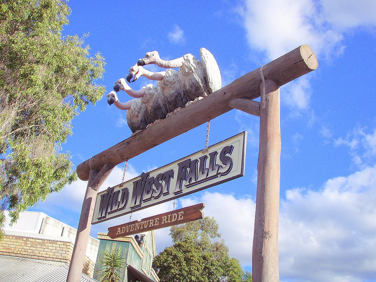 File:Wild West Falls area sign.jpg - Wikimedia Commons