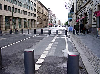 Wilhelmstrasse - Wilhelmstraße today: anti-car bomb bollards at the British embassy