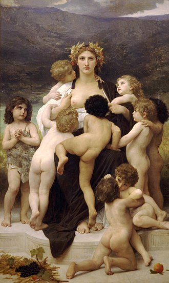 Postcolonialism - The Motherland and her dependent colonial offspring. (William-Adolphe Bouguereau, 1883)