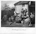 William French (1815 - 1898), Der Champagner in der Heimat, Stahlstich nach de Bruycker, D1277.jpg