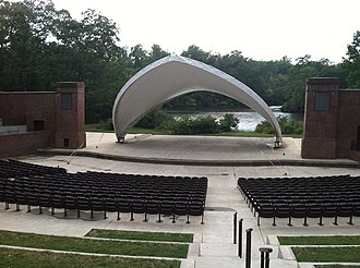 College of William & Mary - The renovated Matoaka Amphitheater scenically located on the shore of Lake Matoaka.